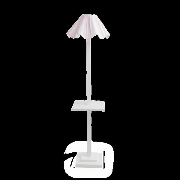 lampada da terra con tavolino