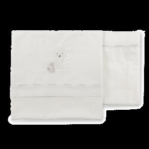 Set lenzuolini con cagnolino per lettino e culla